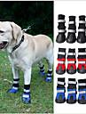 고양이 강아지 신발 & 부츠 방수 컬러 블럭 블랙 레드 블루 애완 동물