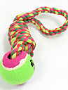 Cat Toy Dog Toy Pet Toys Ball Chew Toy Interactive Teeth Cleaning Toy Rope Elastic Dog Durable Footprint Tennis Ball Nobbly Wobbly Woven