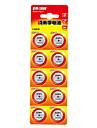 NANFU A76 Coin Button Cell Alkaline Battery 1.5V 10 Pack