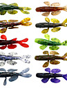 "10 pcs Soft Bait Fishing Lures Soft Bait Crocodile Shad Assorted Colors g/Ounce mm/3-5/16"" inch,SiliconSea Fishing Fly Fishing Bait"