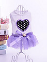 Dog Dress Dog Clothes Casual/Daily Sports Princess Purple Pink Costume For Pets
