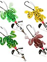 4 pcs Soft Bait Others Fishing Lures Frog Soft Bait Soft Plastic Silicon Sea Fishing Bait Casting Spinning Jigging Fishing Freshwater