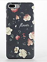 Capinha Para Apple iPhone 7 Plus iPhone 7 Aspero Estampada Capa traseira Flor Rigida PC para iPhone 7 Plus iPhone 7 iPhone 6s Plus iPhone