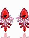 Femme Cristal Cristal Boucles d\'oreille goujon - Geometrique Noir Fuchsia Rouge Bleu Forme Geometrique Des boucles d\'oreilles Pour Soiree