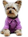 Собака Футболка Одежда для собак Однотонный Лиловый Зеленый Хлопок Костюм Назначение Лето Муж. Жен. На каждый день Мода