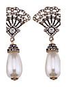 女性用 ドロップイヤリング  -  真珠 オリジナル, ビキニ, ファッション ホワイト 用途 結婚式 / パーティー / 卒業