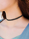 Women\'s Choker Necklaces Jewelry Single Strand Fabric Basic Euramerican Fashion Personalized Simple Style Jewelry ForParty Special