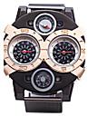 JUBAOLI Men\'s Sport Watch Quartz Large Dial Alloy Band Charm Black