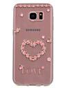 Capinha Para Samsung Galaxy S8 Plus S8 Transparente Estampada Capa traseira Flor Macia TPU para S8 Plus S8 S7 edge S7 S6 edge S6 S5 Mini