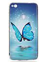 Pour Phosphorescent IMD Motif Coque Coque Arriere Coque Papillon Flexible PUT pour HuaweiHuawei P10 Lite Huawei P10 Huawei P9 Lite Huawei