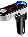 Wireless Bluetooth HandsFree Car Kit Car Mp3 Player FM Transmitter Dual USB FM Modulator A2DP USB Charger for iPhone