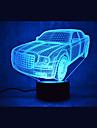 1 ед. 3D ночной свет USB Датчик / Диммируемая / Водонепроницаемый LED / Модерн