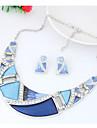 Pentru femei Geometric Set bijuterii - Modă, Euramerican Include Curcubeu / Verde / Albastru Pentru Petrecere Zilnic