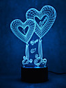 Amour tactile gradation 3d led nuit lumiere 7colorful decoration atmosphere lampe nouveaute eclairage lumiere