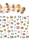 1 Adesivos para Manicure Artistica Autocolantes de Unhas 3D maquiagem Cosmeticos Designs para Manicure