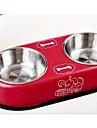 Cachorro Comedouro Animais de Estimacao Tigelas e alimentacao de animais Bege Vermelho