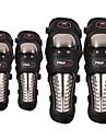PRO-BIKER 4PCS/SET Stainless Steel Motorcycle ATV Knee & Elbow Pads Protective Gear Motorbike Off-road Racing Guards