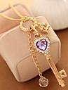 Жен. Ожерелья-бархатки Ожерелья с подвесками Ожерелья-цепочки Кристалл Стразы В форме сердца В форме короны Стразы Сплав Базовый дизайн