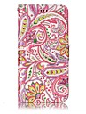 For LG G6 Case Cover Pepper Flowers Pattern Shine Relief PU Material Card Stent Wallet Phone Case