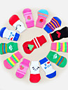 Cat Dog Socks Cute Casual/Daily Keep Warm Stripe Cartoon Random Color For Pets