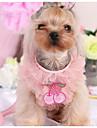 강아지 드레스 강아지 의류 캐쥬얼/데일리 패션 격자무늬/체크 퍼플 핑크 코스츔 애완 동물