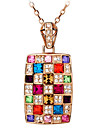 Homme Femme Pendentif de collier Colliers chaines Strass Forme Geometrique Strass Alliage Basique Original Pendant Stras Naturel
