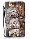 For Samsung Galaxy J3 J5 Case Cover Owl Pattern Painted Card Stent PU Material Phone Case J5 (2016) J3 J5