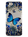 For Apple iPhone 7 7 Plus 6S 6 Plus SE 5S 5 Case Cover Butterfly Pattern Drop Glue Varnish High Quality TPU Material Phone Case