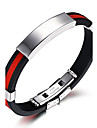 Men\'s ID Bracelet - Hip-Hop Fashion Rock Round Circle White Red Blue Bracelet For Birthday Gift Sports