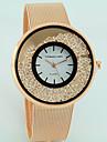 Women\'s Fashion Watch Floating Crystal Watch Quartz Imitation Diamond Alloy Band Casual Silver Gold Rose Gold