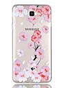 Capinha Para Samsung Galaxy J7 Prime J5 Prime Transparente Estampada Capa Traseira Flor Macia TPU para J7 (2016) J7 Prime J5 (2016) J5