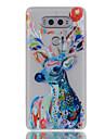 Pour lg g6 v20 lueur dans le boitier noir / translucide etui arriere peau cerf tp lg x ecran k5 k7 k8 k10 g5