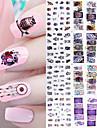 12 Autocollant d\'art de clou Maquillage cosmetique Nail Art Design