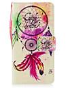 Pour huawei p8 lite (2017) p10 casque enveloppe carillons de bois peint peel materiel de peau carte carte stent portefeuille telephone