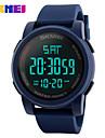 남성용 스포츠 시계 드레스 시계 스마트 시계 패션 시계 손목 시계 독특한 창조적 인 시계 중국어 디지털 달력 크로노그래프 방수 야광 큰 다이얼 실리콘 밴드 참 멋진 창의적 멀티컬러