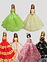Party/Evening Dresses For Barbie Doll Multiple Colors Dresses For Girl\'s Doll Toy Set of 6