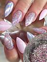 1pc Pailletten / Glitzerpulver / Nagel Glitter Elegant & Luxurioes / Strahlend & Funkelnd Nagel-Kunst-Design