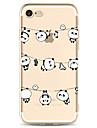Para Apple iphone 7 7 mais 6s 6 mais capa capa padrao de panda pintado de alta penetracao material tpu capa macia caso do telefone