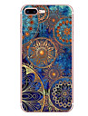 Pour iPhone 8 iPhone 8 Plus Etuis coque Motif Coque Arriere Coque Mandala Flexible PUT pour Apple iPhone 8 Plus iPhone 8 iPhone 7 Plus