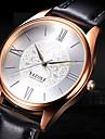 YAZOLE Муж. Повседневные часы Модные часы Наручные часы Кварцевый Кожа Группа Цветы На каждый день Elegant Cool Черный Коричневый