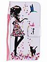 Кейс для Назначение Huawei P9 Huawei P9 Lite Huawei P8 Huawei Huawei P8 Lite Бумажник для карт Кошелек со стендом Флип С узором Чехол