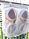 1Pcs Fashion Storage Organizer Bags Mesh Laundry Shoes Bags Dry Shoe Organizer Portable Washing Bags