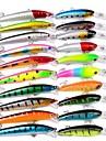 HiUmi 20 pcs Swimbaits Lure Kits Fishing lure Mixed Fishing Tackle 20 Colors Minnow Lure Crank Lures Mix Fishing Bait