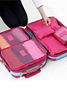 6 sets Travel Bag Packing Cubes Travel Luggage Organizer / Packing Organizer Waterproof Dust Proof Foldable Durable Travel Storage