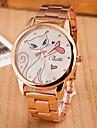 Femme Montre Decontractee Quartz Alliage Bande Or Rose