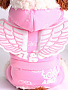 Dog Hoodie Dog Clothes Warm Keep Warm Cartoon Angel Pink Light Blue Costume For Pets