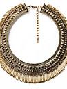 Mulheres colares em camadas Formato de Linha Liga Moda Vintage Estilo Boemio Personalizado Joias Para Festa Festa de Noite Palco Formal