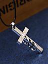 Муж. Ожерелья с подвесками Заявление ожерелья - Нержавеющая сталь Титановая сталь На заказ Геометрия Уникальный дизайн В виде подвески