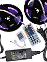 HKV® 10M(2*5M) 5050 300LED RGB Strip Light 44Key Remote Controller 5A Power Supply AC 100-240V