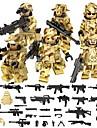 DILONG Blocos de Construir Blocos Militares Bonecos em Blocos de Montar 106 pcs Militar Guerreiro Soldier Unisexo Para Meninos Para Meninas Brinquedos Dom
